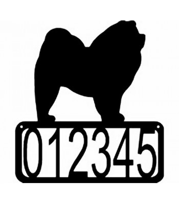 Chow Chow Dog House Address Sign