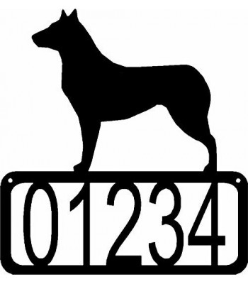 Collie Smooth Coat Dog House Address Sign