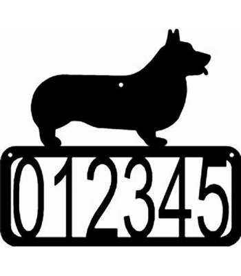Pembroke Welsh Corgi  Dog House Address Sign