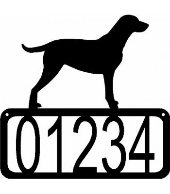 Curly Coated Retriever Dog House Address Sign