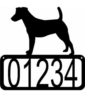 Fox Terrier Dog House Address Sign