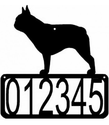 French Bulldog Dog House Address Sign