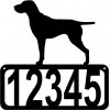 German Shorthaired Pointer Dog House Address Sign