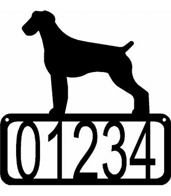 German Wirehaired Pointer Dog House Address Sign
