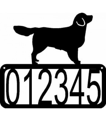 Golden Retriever Dog House Address Sign