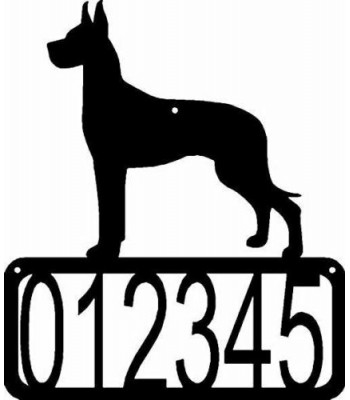 Great Dane Dog House Address Sign