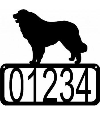 Great Pyrenees Dog House Address Sign