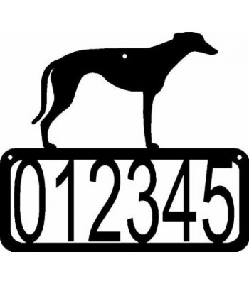 Greyhound Dog House Address Sign