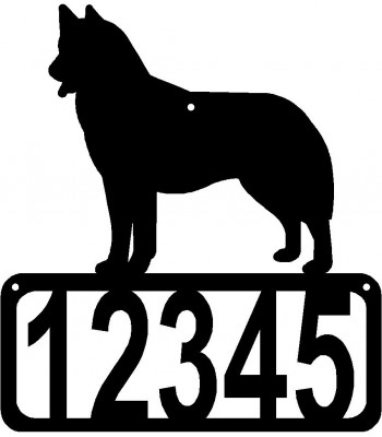 Siberian Husky Dog House Address Sign