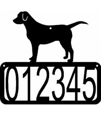 Labrador Retriever Dog House Address Sign