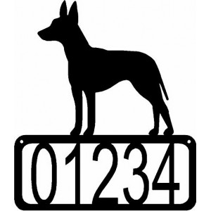 Manchester Terrier Dog House Address Sign