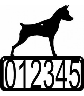 Miniature Pinscher Dog House Address Sign
