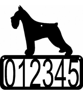 Miniature Schnauzer Dog House Address Sign