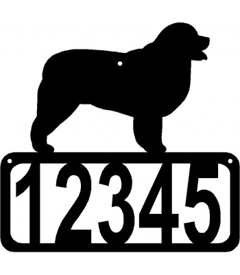 Newfoundland Dog House Address Sign