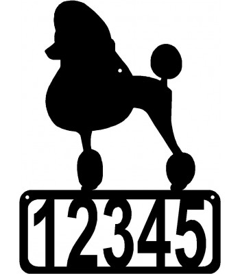 Poodle Dog House Address Sign