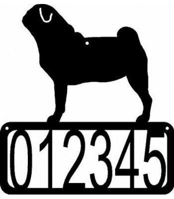 Pug Dog House Address Sign