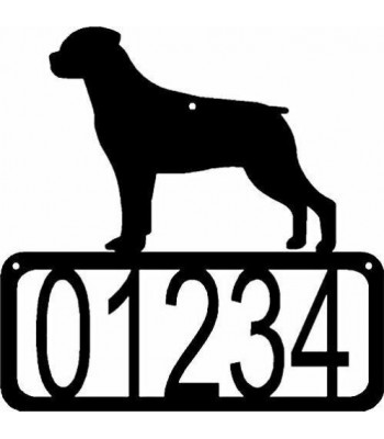 Rottweiler Dog House Address Sign