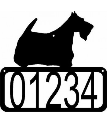 Scottish Terrier Dog House Address Sign