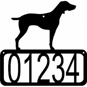 Weimeraner Dog House Address Sign