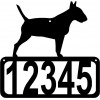 Bull Terrier  Dog House Address Sign