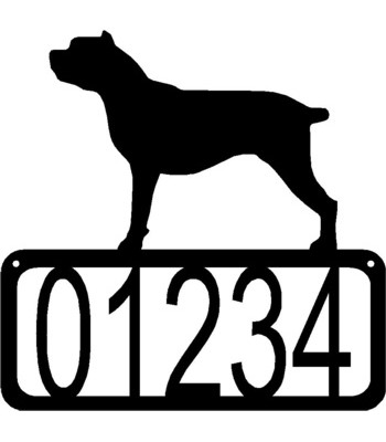 Cane Corso Dog House Address Sign