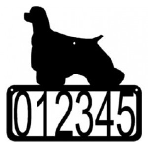 Cocker Spaniel Dog House Address Sign