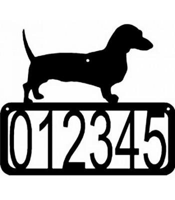Dachshund Dog House Address Sign