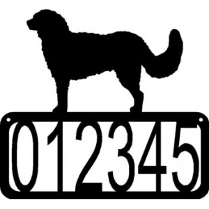 Goldendoodle Dog House Address Sign