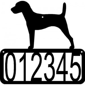 Jack Russell Dog House Address Sign