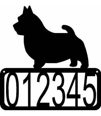 Norwich Terrier Dog House Address Sign