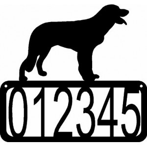 Longhaired Pointer Dog House Address Sign