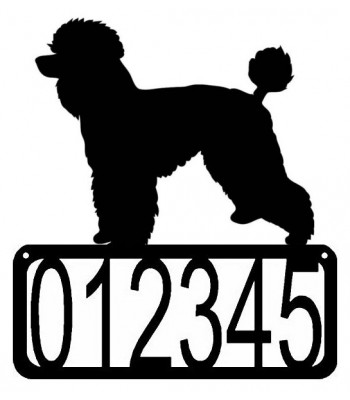 Poodle #2 (natural cut) Dog House Address Sign