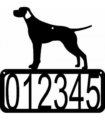 Smooth Pointer Dog House Address Sign