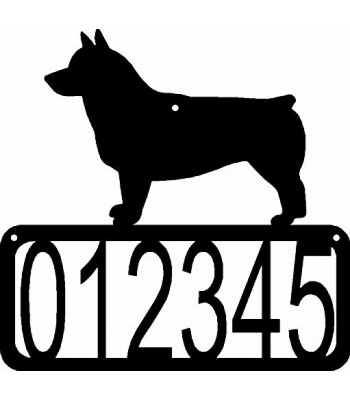 Swedish Vallhund Dog House Address Sign