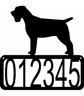 Wirehaired Pointing Griffon Dog House Address Sign