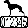 Whippet Dog House Address Sign