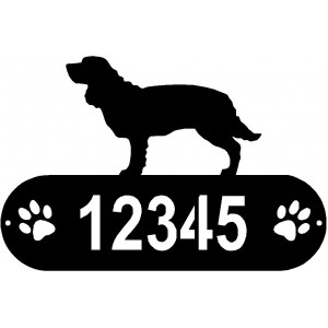 American Water Spaniel Dog PAWS House Address Sign