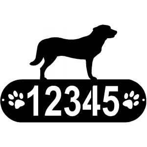Anatolian Shepherd Dog PAWS House Address Sign