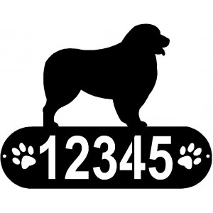 Australian Shepherd Dog PAWS House Address Sign
