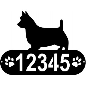 Australian Terrier Dog PAWS House Address Sign