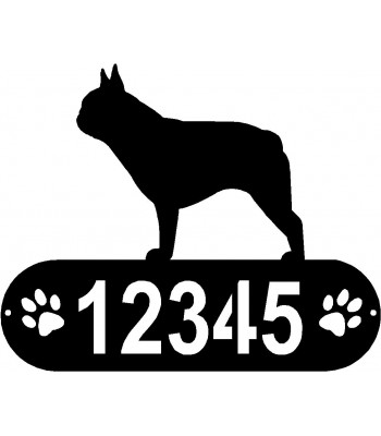 French Bulldog Dog PAWS House Address Sign