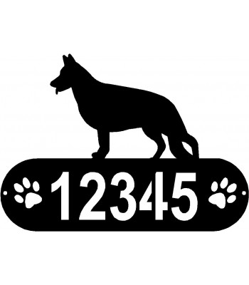 German Shepherd Dog (Standing) PAWS House Address Sign