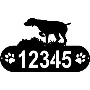 GSP On Point PAWS House Address Sign - German Shorthaired Pointer