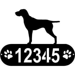 GSP PAWS House Address Sign - German Shorthaired Pointer