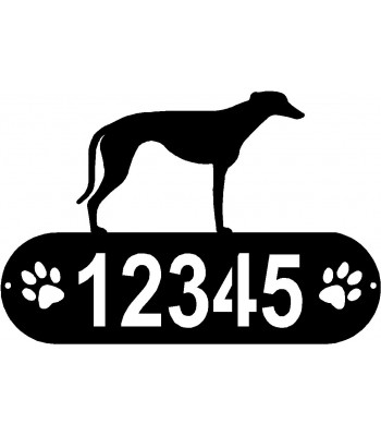 Greyhound PAWS House Address Sign