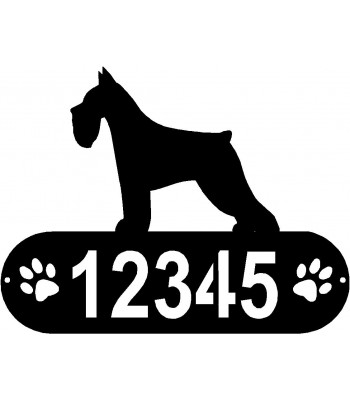 Miniature Schnauzer PAWS House Address Sign