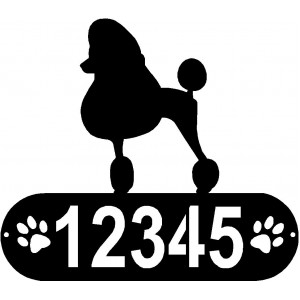 Poodle (Show Cut)  Dog PAWS House Address Sign