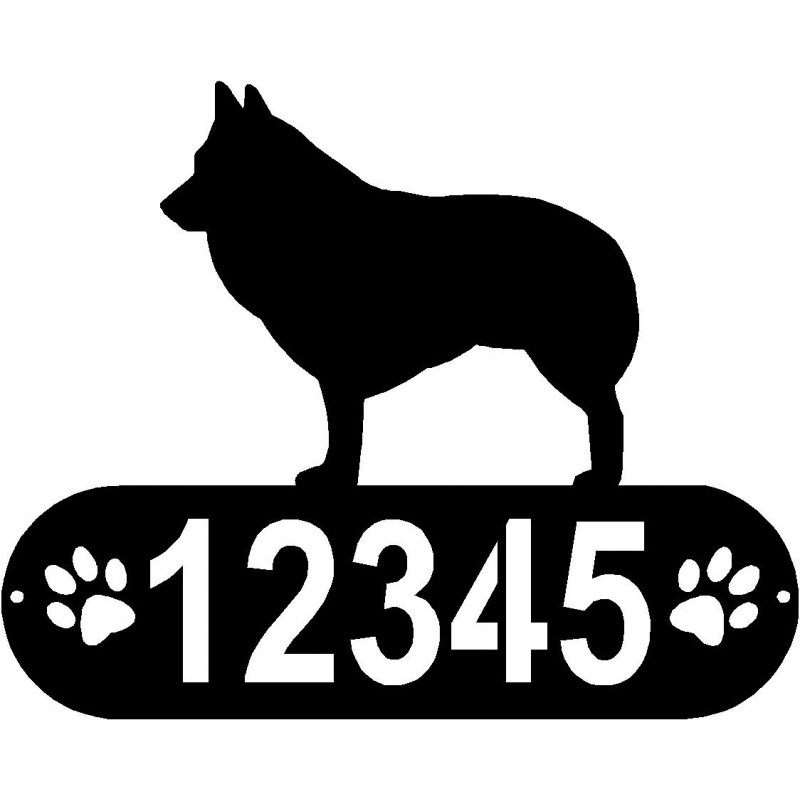 Dog Paws Personalized House Sign Schipperke