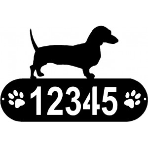 Dachshund PAWS House Address Sign