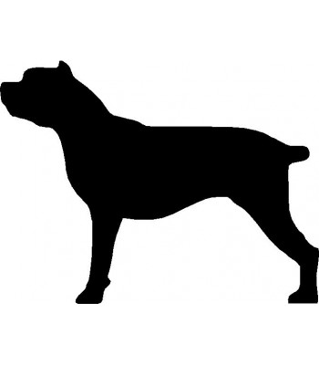 Dog Silhouette Wall Art Magnetic Memo: Cane Corso